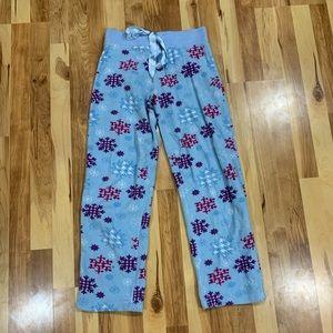 Blue Snowflake Pajama Pants